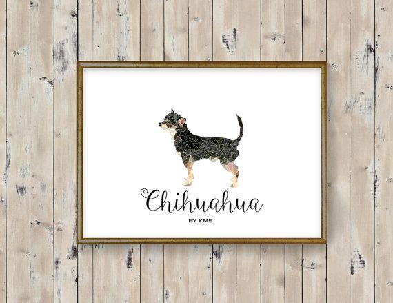 CHIHUAHUA dog printable. Mexican chihuahua DOG by KeepMakingSmiles
