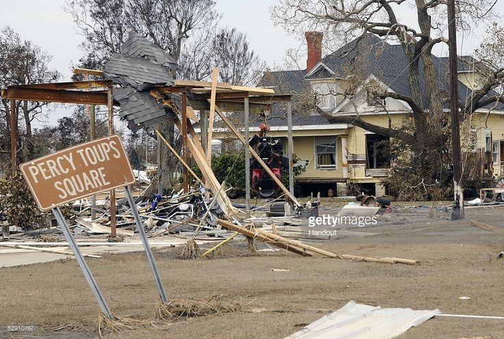 In this handout image provided by the U.S. Department of Homeland Security (DHS), a home damaged by Hurricane Ike is seen September 18, 2008 in Sabine Pass, Texas. The storm caused extensive damage and widespread power outages throughout the Texas Gulf Coast and is responsible for several deaths.