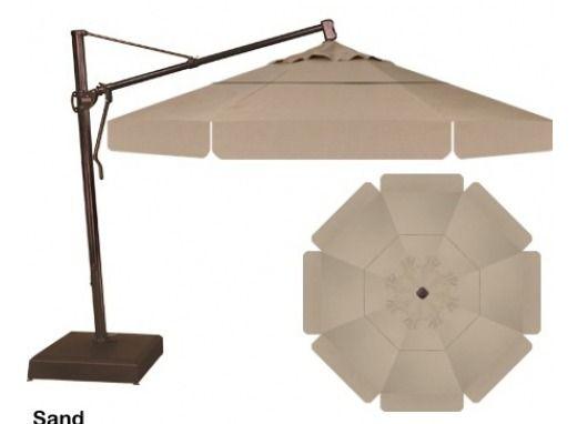 Treasure Garden 13 39 Cantilever Umbrella In Sand Outdoor Umbrellas Patio Shade Garden