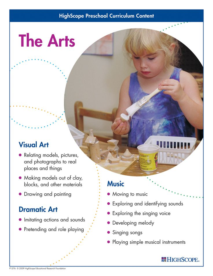 This book explains the role that the arts play in children's development and how to make them an important part of the preschool day.