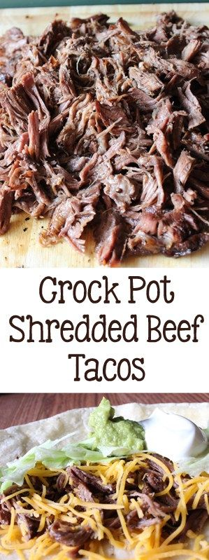 Slightly spicy chuck roast, slow cooked in the crock pot, then shredded for the best Crock Pot Shredded Beef Tacos, perfect for a crowd. #tacos #crockpot #tacotuesday #slowcooker | Everydaymadefresh.com