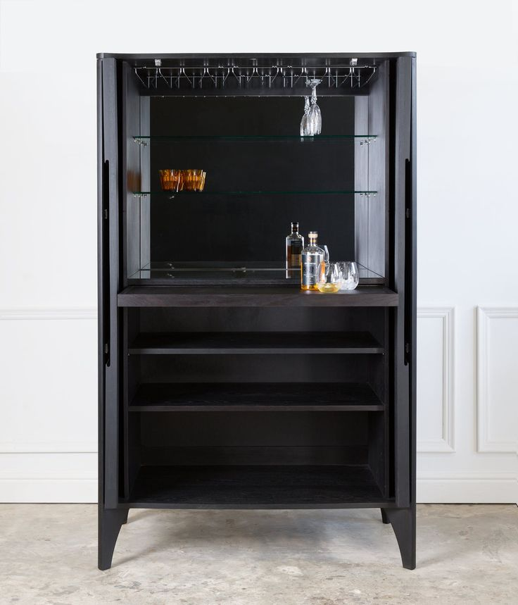 Buy Noah Drinks Cabinet by NestedNY - Made-to-Order designer Furniture from Dering Hall's collection of Contemporary Mid-Century / Modern Bar Cabinets.