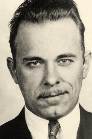 Photographic print portrait of john dillinger 24x16in