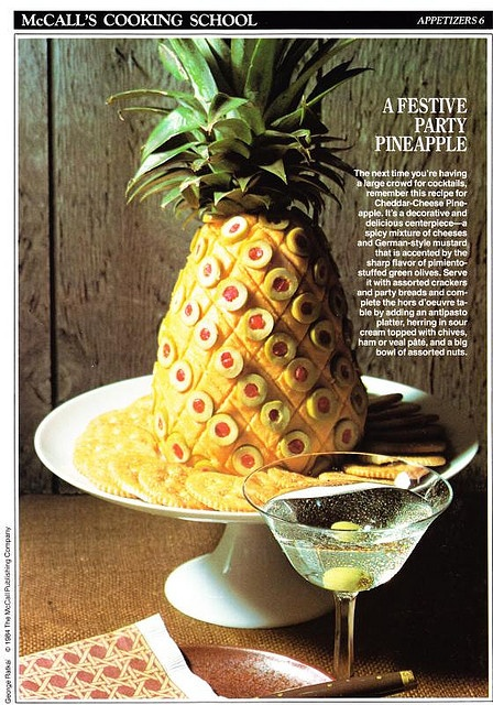 A cheese pineapple to go with the liver sausage one.