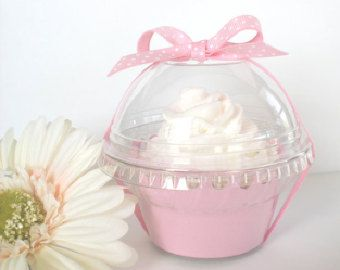 Set of 24 Clear Plastic Cupcake Favor Containers by FavorWrap