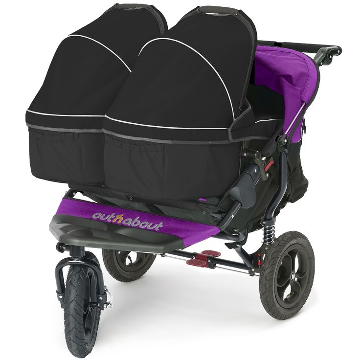 Out 'n' About Nipper 360 Double V3 + 2 Carrycots - Purple Punch at Winstanleys Pramworld