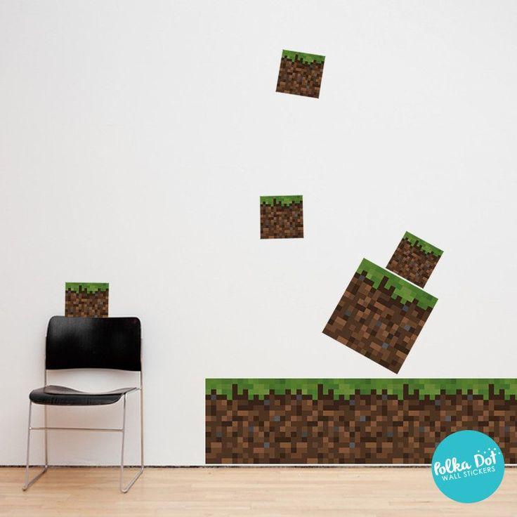 Pixel Ground Block Wall Decal Minecraft Block Wall