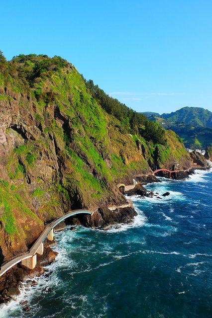 Walking along the coast - Ulleungdo Island, South Korea