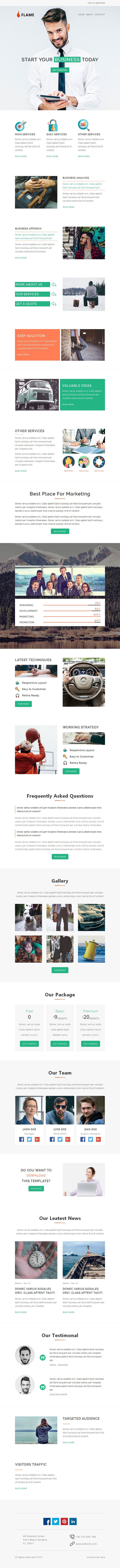 168 best best html email templates images on pinterest flame multipurpose responsive email template stampready builder pronofoot35fo Image collections