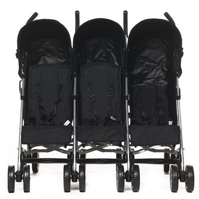 ...a stroller for triplets. Add 3 baby dolls and VOILA! You're invisible to anyone who knows you.