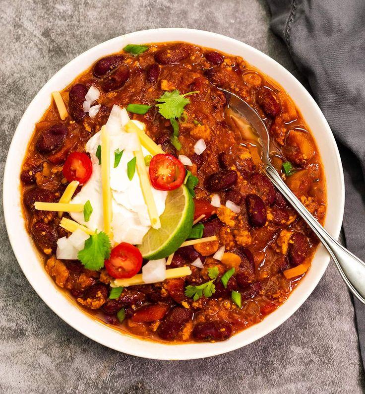 Vegan Chili Recipe In 2020 Vegan Chili Recipe Chili Recipe Healthy Vegan Chili