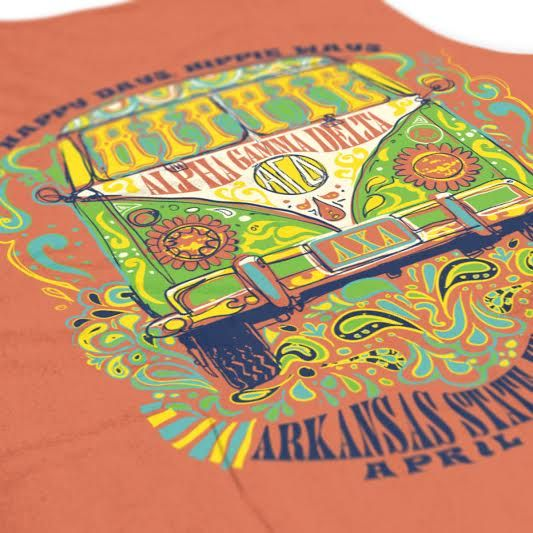 Alpha Gamma Delta - Happy Days and Hippie Ways Design - Sorority shirts - Check out b-unlimited.com!