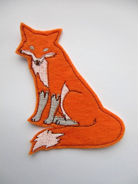 Iron On Patch Orange Fox Applique by dahliasoleil on Etsy, $5.00