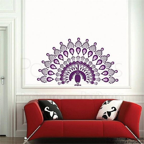 Peacock Wall Decals Animal Wall Sticker Baby Girl By PopDecors Part 94