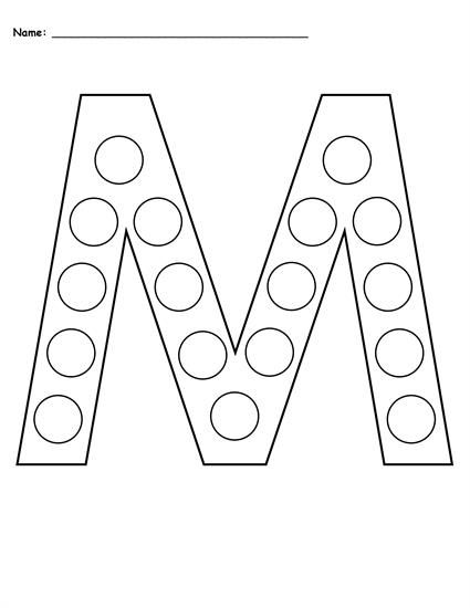 FREE Letter M Do-A-Dot Printables - Uppercase & Lowercase ...