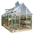 Palram Snap and Grow 6 ft. x 12 ft. Silver Polycarbonate Greenhouse 701526 at The Home Depot - Mobile