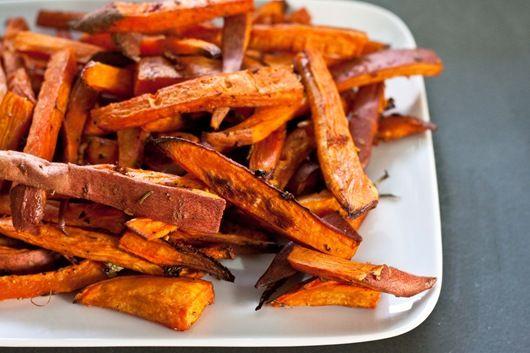 how to make sweet potato fries ahead of time