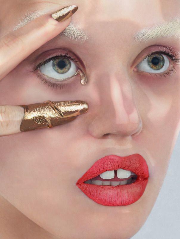 gold finger and golden tear       --Daniel Sannwald