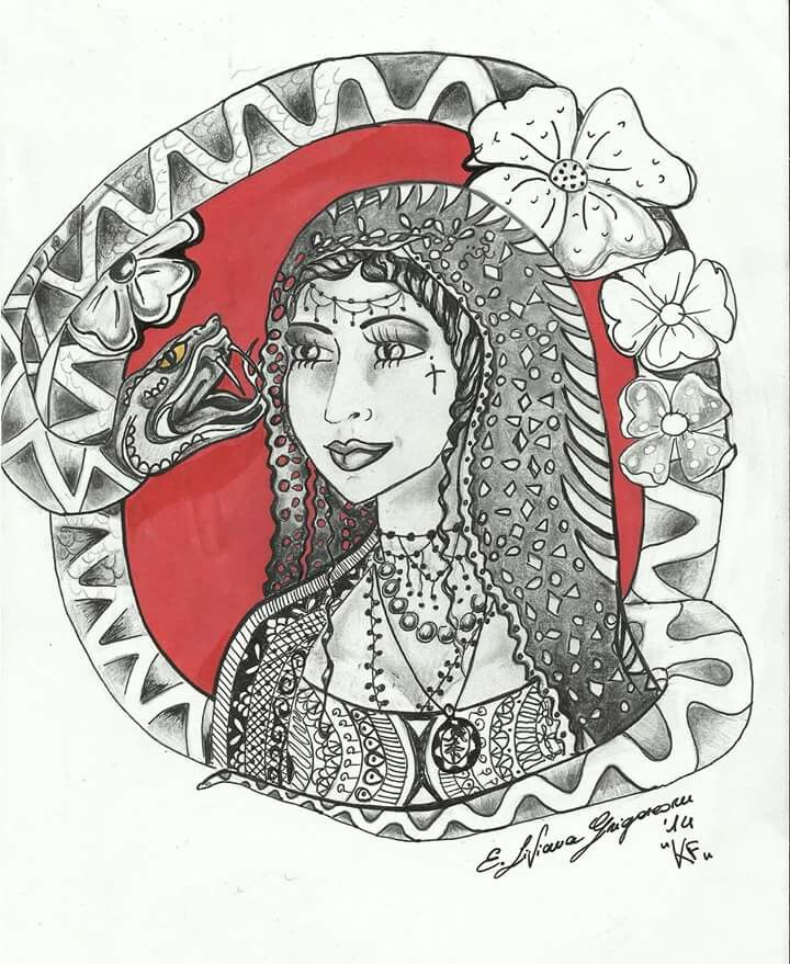 #snake #woman #tattoo #oldschool #ink #red #disegno #flash