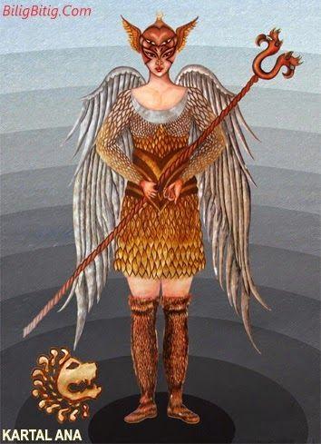 Kartal Ana Türk Mitolojisi Karakteri - Türk Asya - Bilig Bitig, Asian Turkish, Тюрки России