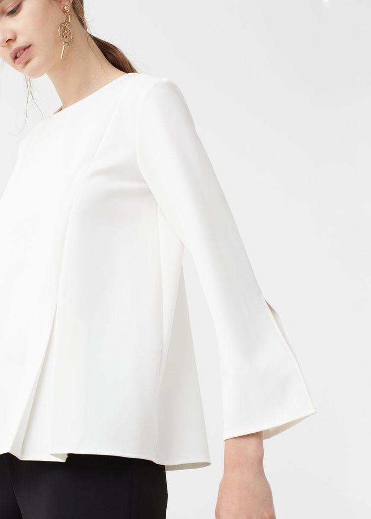 Pintuck detail blouse - Shirts for Woman | MANGO United Kingdom