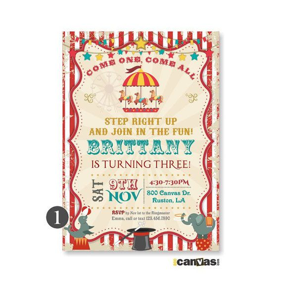 Best 25 Carnival party invitations ideas – Carousel Party Invitations