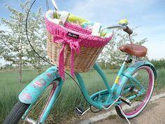 Forro de tecido estampado, um artesanato especial para a bicicleta                                                                                                                                                                                 Mais