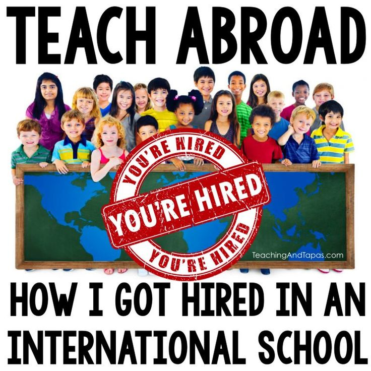 How I Got Hired in an International School