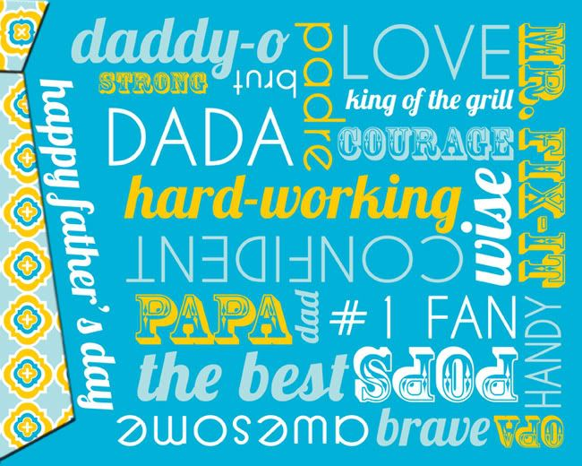 Free Father's Day subway art: Teacher Gifts, Subway Art, Gifts Ideas, Free Father, Father Day, Father'S Day, Fathers Day, Free Printable, Holidays Father