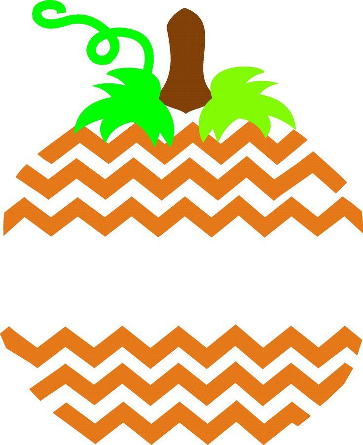 Chevron Striped Pumpkin SVG