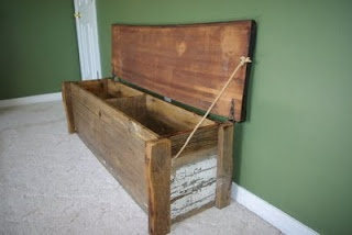 reclaimed barn wood bench / chest
