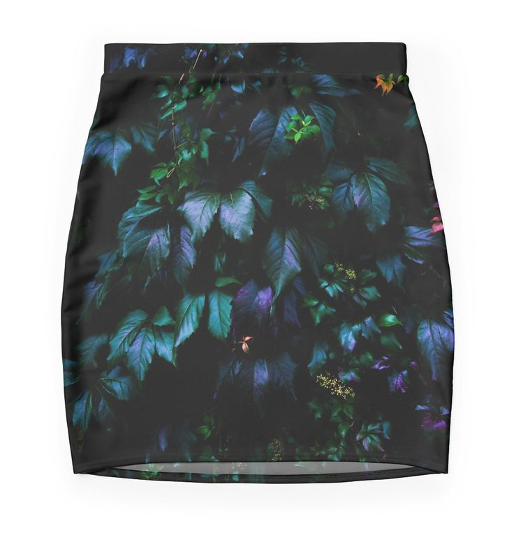 Welcome to the Jungle Mini Skirts #forest #nature #jungle #floral #botanical #dark #magical #colorful #skirt #apparel