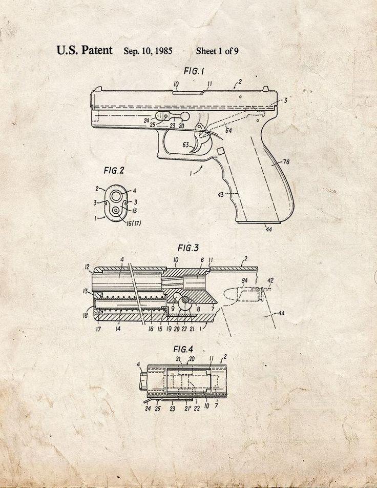 286 best Mechanical Blue Prints images on Pinterest Knife making - new blueprint gun art