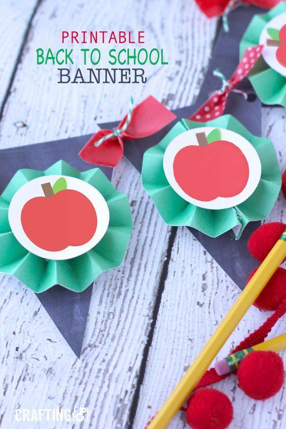Printable Back to School Banner - Craftinge{E}