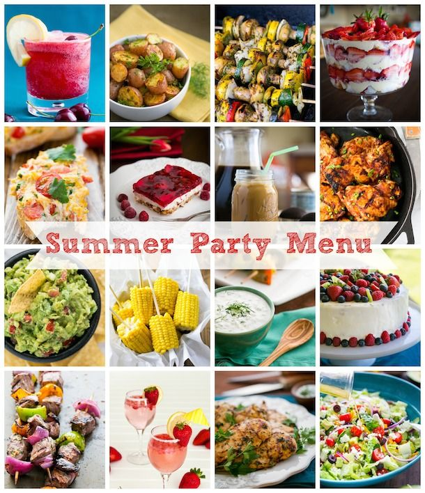 Menu Ideas for your next summer party from @natashaskitchen