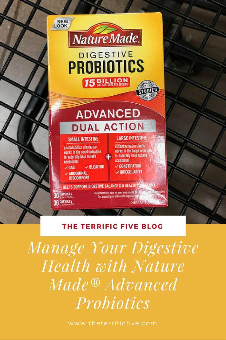 Manage Your Digestive Health with Nature Made® Advanced Probiotics   Probiotics Review   Kroger   www.theterrificfive.com   #ad   #NatureMadeProbioticsatKroger   #IC