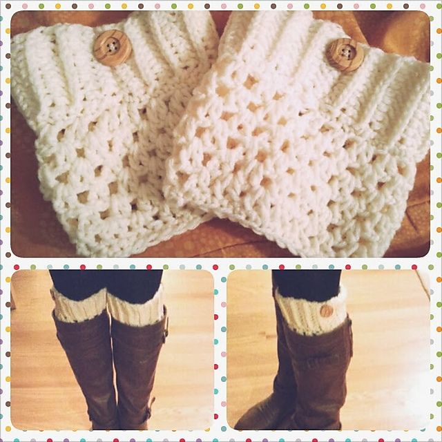 Ravelry: Crochet Boot Cuffs pattern by Justine Vo
