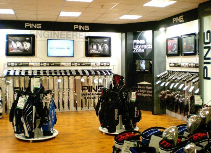 Adglow Ping Store Display