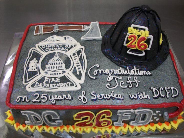 Firefighter retirement cake.