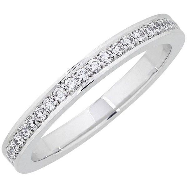 Preowned 0.23 Carat Brilliant Cut White Diamonds White Gold Eternity... (2 520 AUD) ❤ liked on Polyvore featuring jewelry, rings, wedding rings, white, pre owned wedding rings, white gold rings, white gold eternity ring, white ring and white wedding ring
