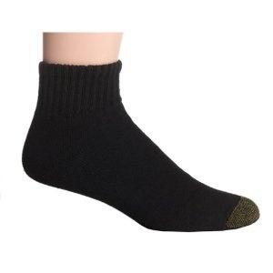 Click on the image for more details! - Gold Toe Men's Cotton Quarter Athletic Sock, Black, 3-Pack (Apparel)