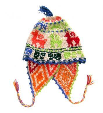 Cusco #Chullo Mütze aus Peru, traditionell handgestrickt.