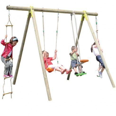 Balançoire bois Trigano 2,30 m. 5 enfants