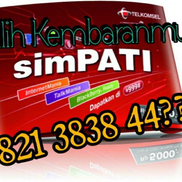 Saya menjual Simpati Nomor Hoki/cantik seharga Rp400.000. Dapatkan produk ini hanya di Shopee! http://shopee.co.id/emirates/3203908 #ShopeeID