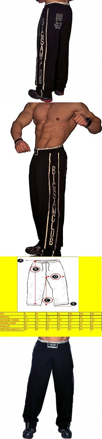 BIG SAM SPORTSWEAR COMPANY Men's Baggy Track Pants Bodypants *836* XXL Black