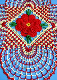 """Instead of having my Friday contest, I am giving everyone a pattern today!   """"County Christmas Doily"""" is my updated version of a classic d..."""
