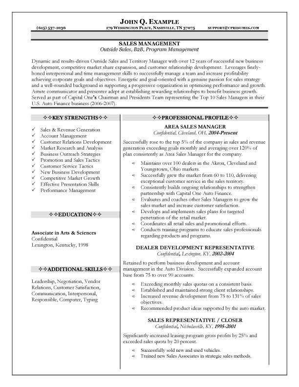 7 best M\M images on Pinterest Resume writing, Auto sales and - Example Of Sales Manager Resume