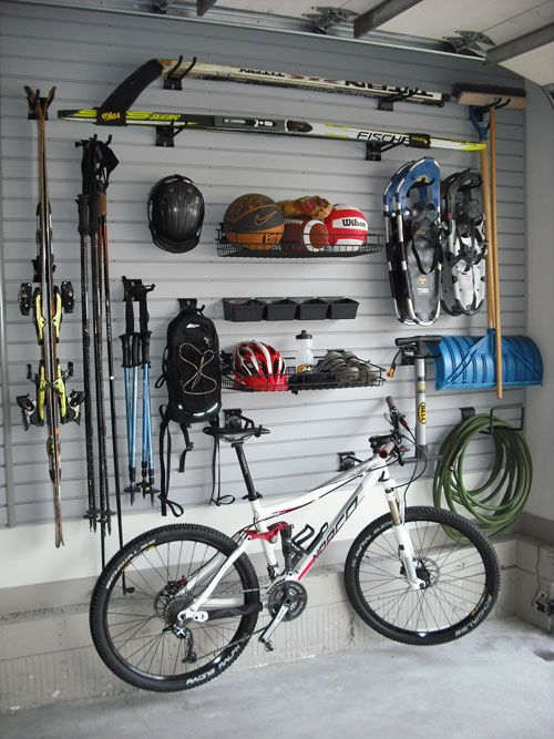slatwall storage for garage organization
