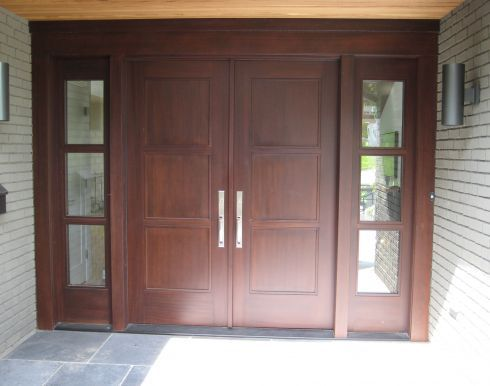 07 Front Door Contemporary Flat Panel Double Entry System House1 Doors