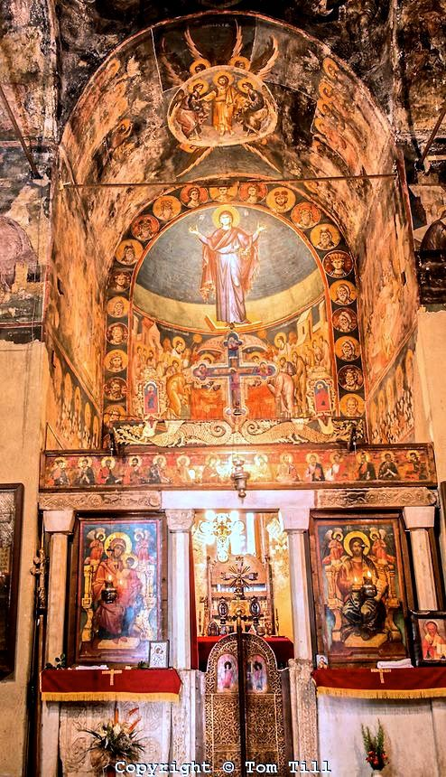 Detail of #frescoes, Holy Mother of God Peribleptos Church, #Ohrid in #Macedonia. Built in 1295, some of the finest examples of #Byzantine frescoes anywhere.